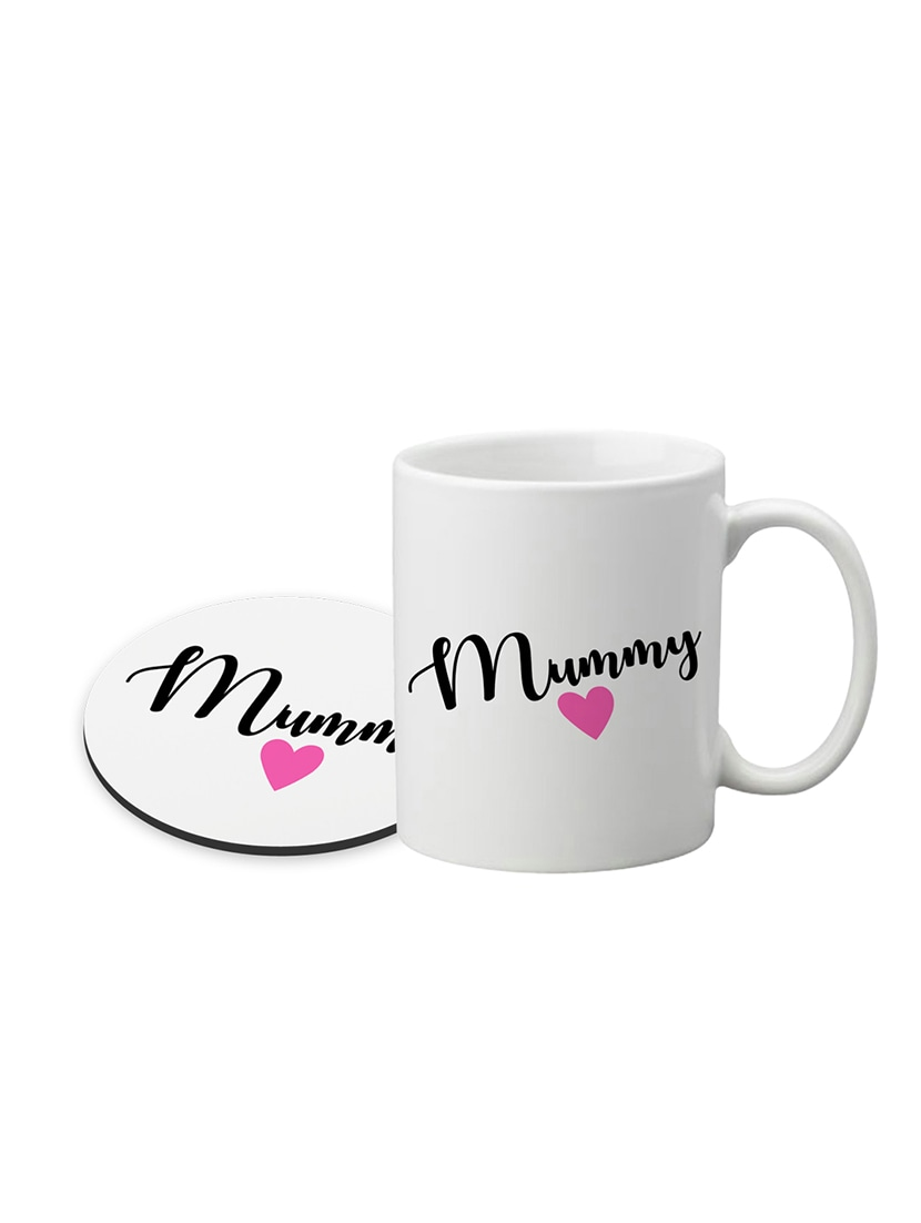 Buy Lof Anniversary Gift For Mummy Papa Birthday Mothers Day Gifts Ceramic Coffee Mug With Round Printed Coaster By