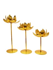 Snoby Lotus Set Of Three Candle Stand - By