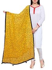 Mustard Chiffon Embroideredphulkari Dupatta - By