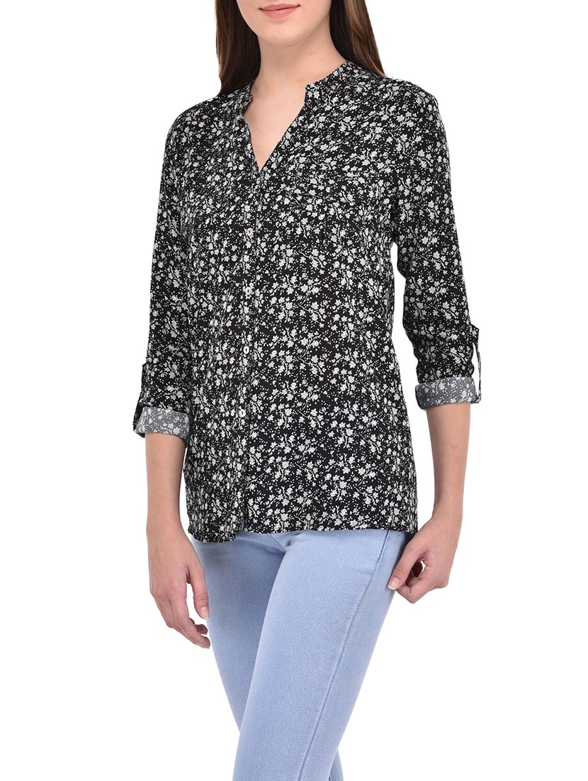 a870c5a8a0d Buy Black Printed Viscose Regular Shirt for Women from Svt Ada Collections  for ₹1024 at 46% off