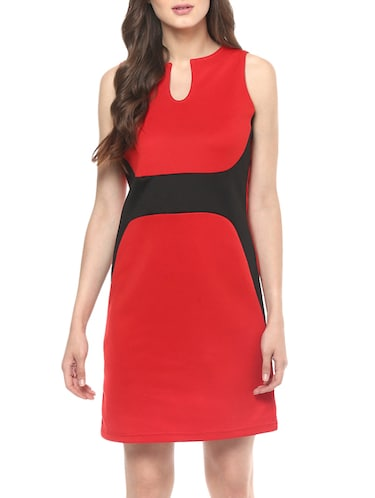 Buy Red And Black Printed Dress By Zima Leto Online Shopping For