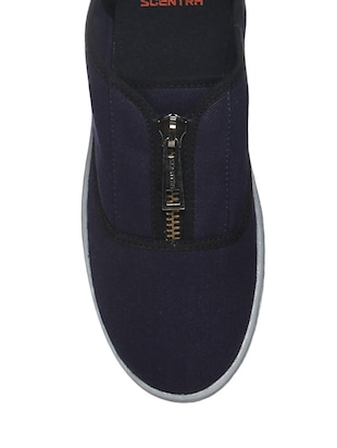 navy Canvas casual slipon - 13340375 - Standard Image - 4
