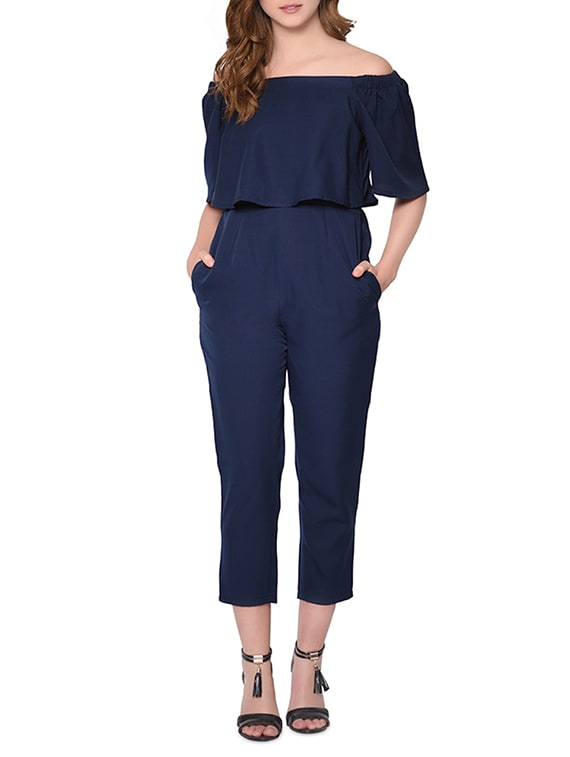 f5eec30c80a Buy Off Shoulder Layered Jumpsuit for Women from Raaika for ₹900 at 53% off