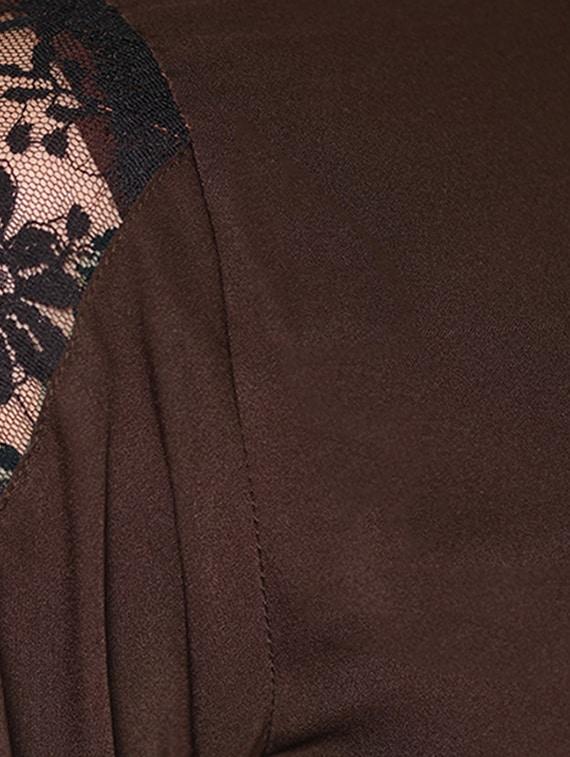f1839e41e3a Buy Peplum Waist Lace Panel Jumpsuit for Women from Raaika for ₹924 ...