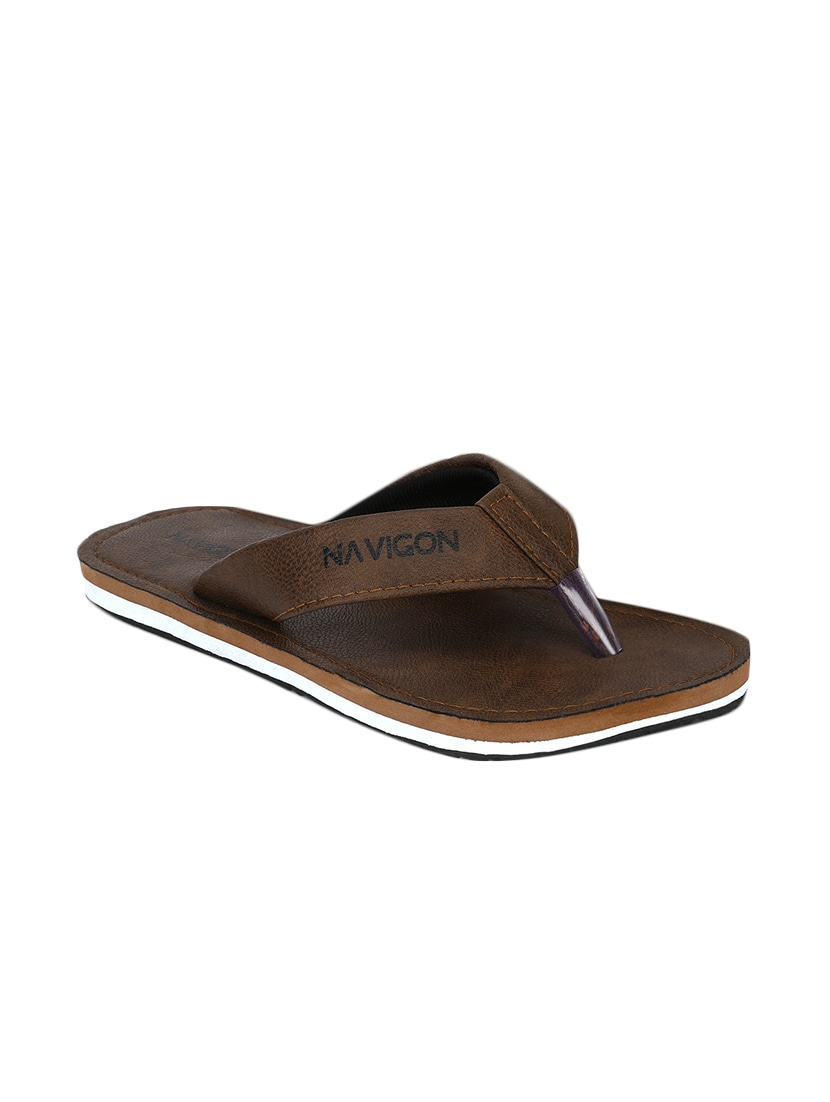 4df45a3e7 Buy Brown Fabric   Synthetic Slip On Flip Flops for Men from Navigon for  ₹399 at 0% off