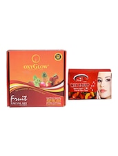 OXYGLOW FRUIT FACIAL KIT 165 GM WITH MIX FRUIT BLEACH 250 GM - By