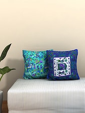 AJ Home Set Of 2 Cotton Ethnic Cushion Covers - By