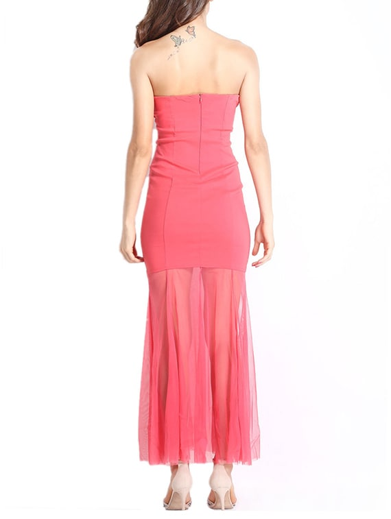 f4ec264a8d8 Buy Pink Tube Maxi Dress by Loverlobby - Online shopping for Dresses in  India