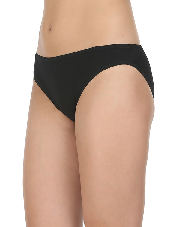 f298f871b1 Buy Set Of 3 Black Cotton Bikini Panties by Bodycare - Online shopping for  Panty in India
