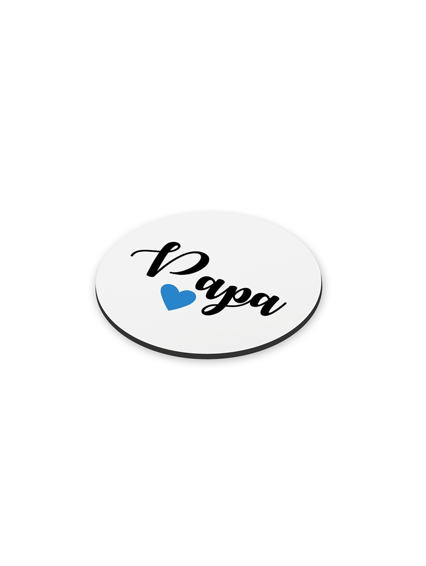 Buy Lof Anniversary Gift For Papa Birthday Fathers Day Gifts Round Printed Coaster By