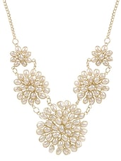 White Gold Plated Long Necklace - By