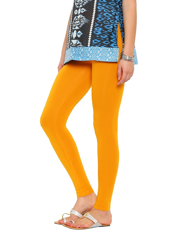 f6b7b41eaaa95 Buy Solid Yellow Viscose Legging for Women from De Moza for ₹389 at 35% off    2019 Limeroad.com