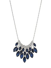 blue metal long necklace -  online shopping for Necklaces