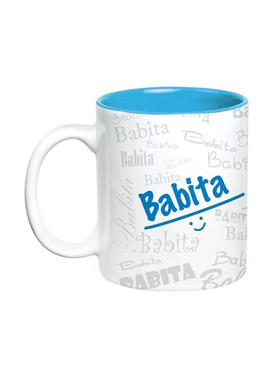 Babita Name Gift Ceramic Inside Blue Mug Gifts For Birthday