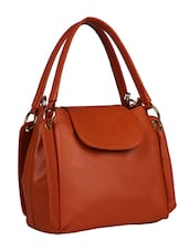 orange leatherette  handbag -  online shopping for handbags