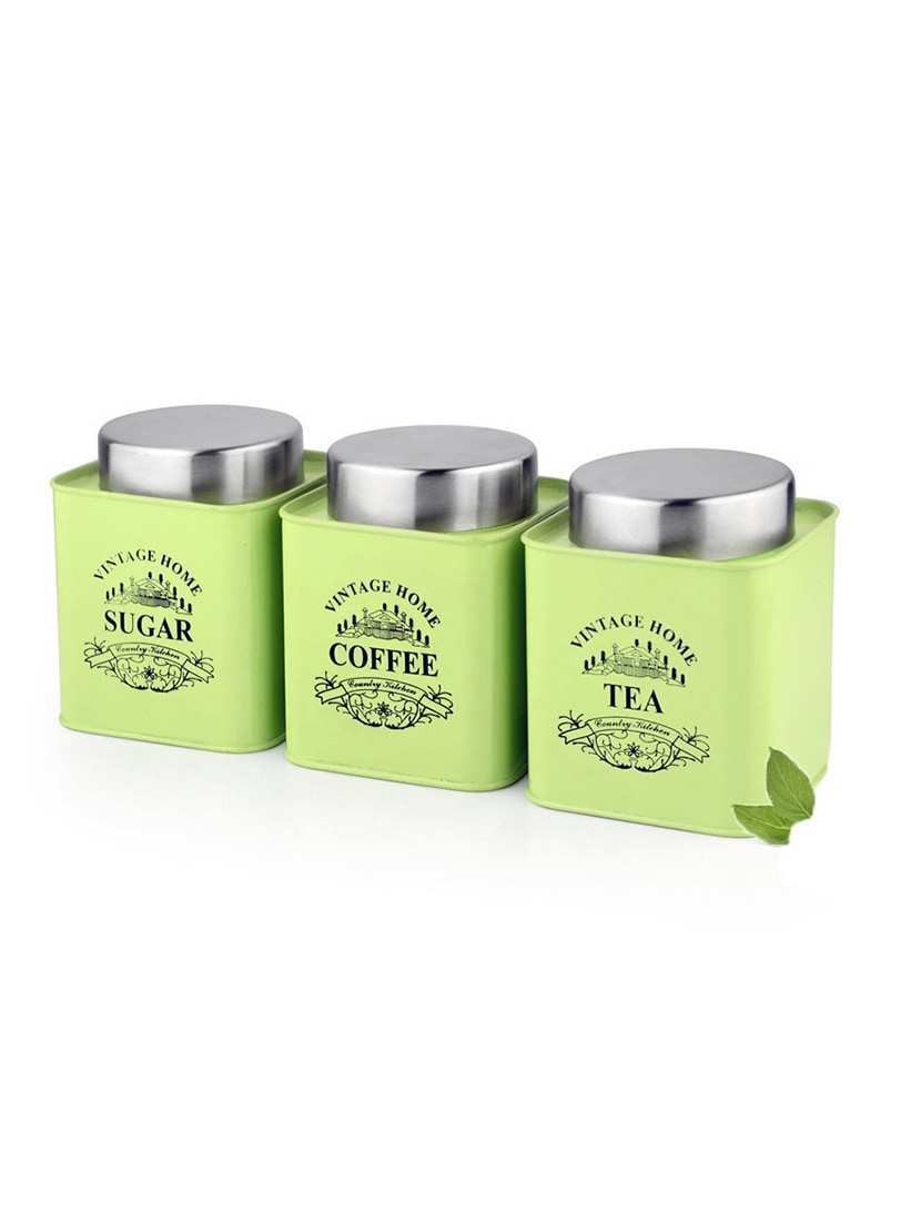 Green Square Half Deck Tea Coffee Sugar Canister By Dynore Online Ping For Containers In India 13436219