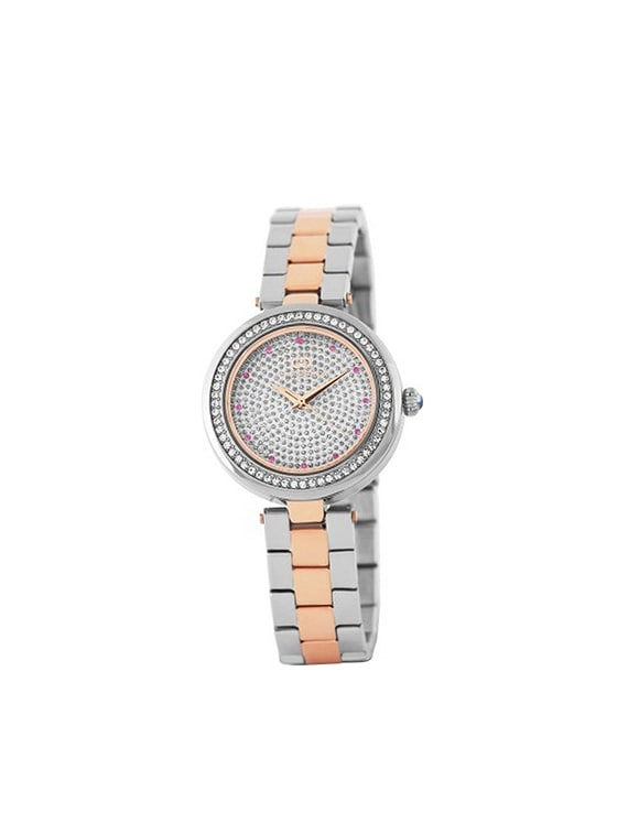 gio collection analog silver dial women's watch   g2008 66