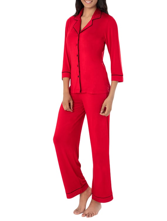 c0200367a4f3 Buy Red Viscose Pyjama Set for Women from Prettysecrets for ₹1799 ...