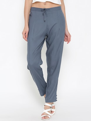 grey rayon trouser -  online shopping for Trousers