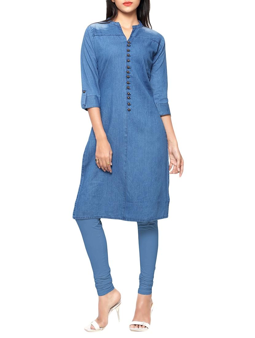 e1629b5eae Buy Blue Denim Kurta for Women from Kvsfab for ₹1145 at 48% off ...
