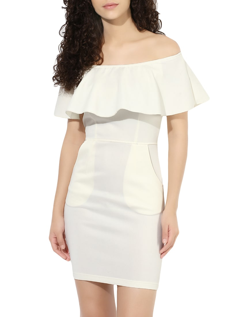 62102549848b Buy Cream Off Shoulder Dress for Women from Texco for ₹1404 at 36% off