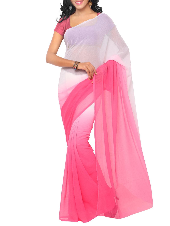 abf6c1e7624 pink chiffon saree with blouse