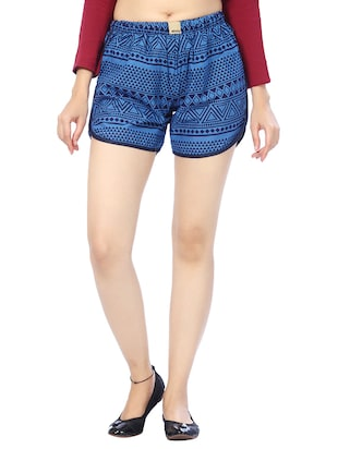 blue cotton regular shorts -  online shopping for Shorts
