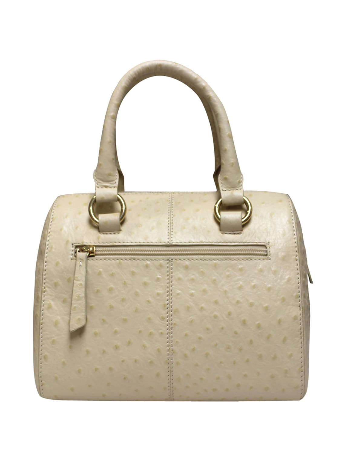 Cream Leather Structured Handbag By La Roma Italia Online Ping For Handbags In India 13656069