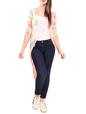 Multicolored chiffon high low shrug -  online shopping for Shrugs