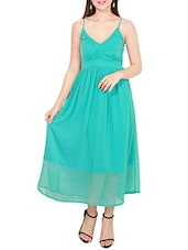 blue chiffon maxi dress -  online shopping for Dresses