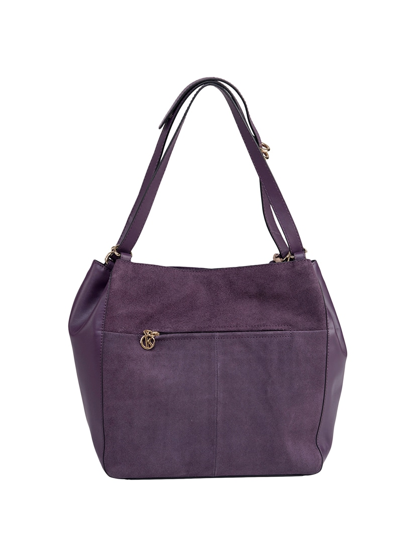 ab46a57139ba Buy Purple Leather Regular Handbag by Klasse - Online shopping for Handbags  in India