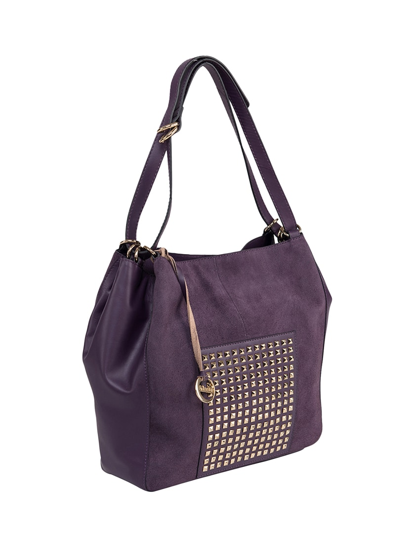 24f0923f700a Buy Purple Leather Regular Handbag by Klasse - Online shopping for ...