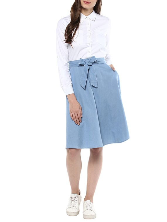 0e796b6011 Buy Blue Denim Attached Shirt Skirt Dress for Women from Stylestone for ₹ 1091 at 48% off
