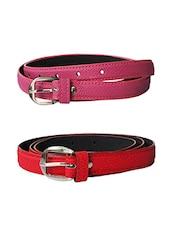Multi Colored Leatherette (pu Belt - By - 13681404