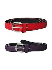Multi Colored Leatherette (pu Belt - By - 13681419
