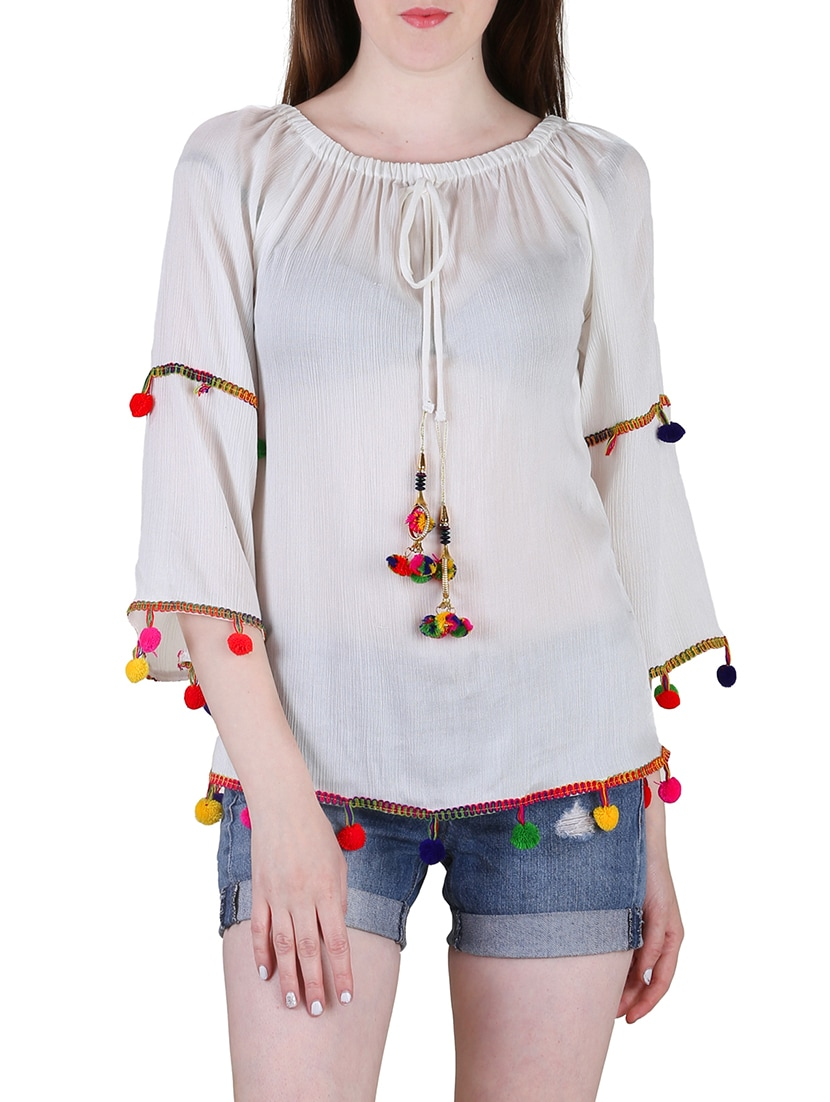 cdba4372ca0ff Buy Set Of 2 Multicolored Rayon Tops for Women from Jolliy for ₹687 at 57%  off