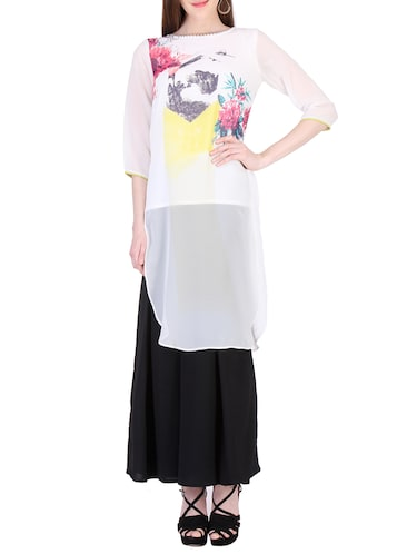 5177bb4ba9df1 Buy white long tops for women latest design in India   Limeroad