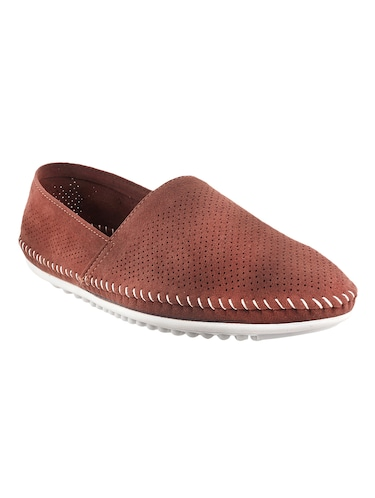 brown synthetic slip on shoes - 13690857 - Standard Image - 1