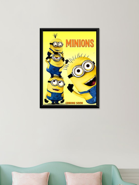 Buy Minions Wall Poster (with Frame) by Unique Indian Crafts ...
