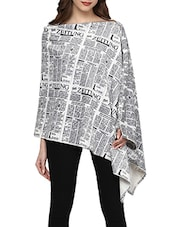 white printed cotton regular cape -  online shopping for Capes