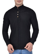 black linen shirt -  online shopping for casual shirts