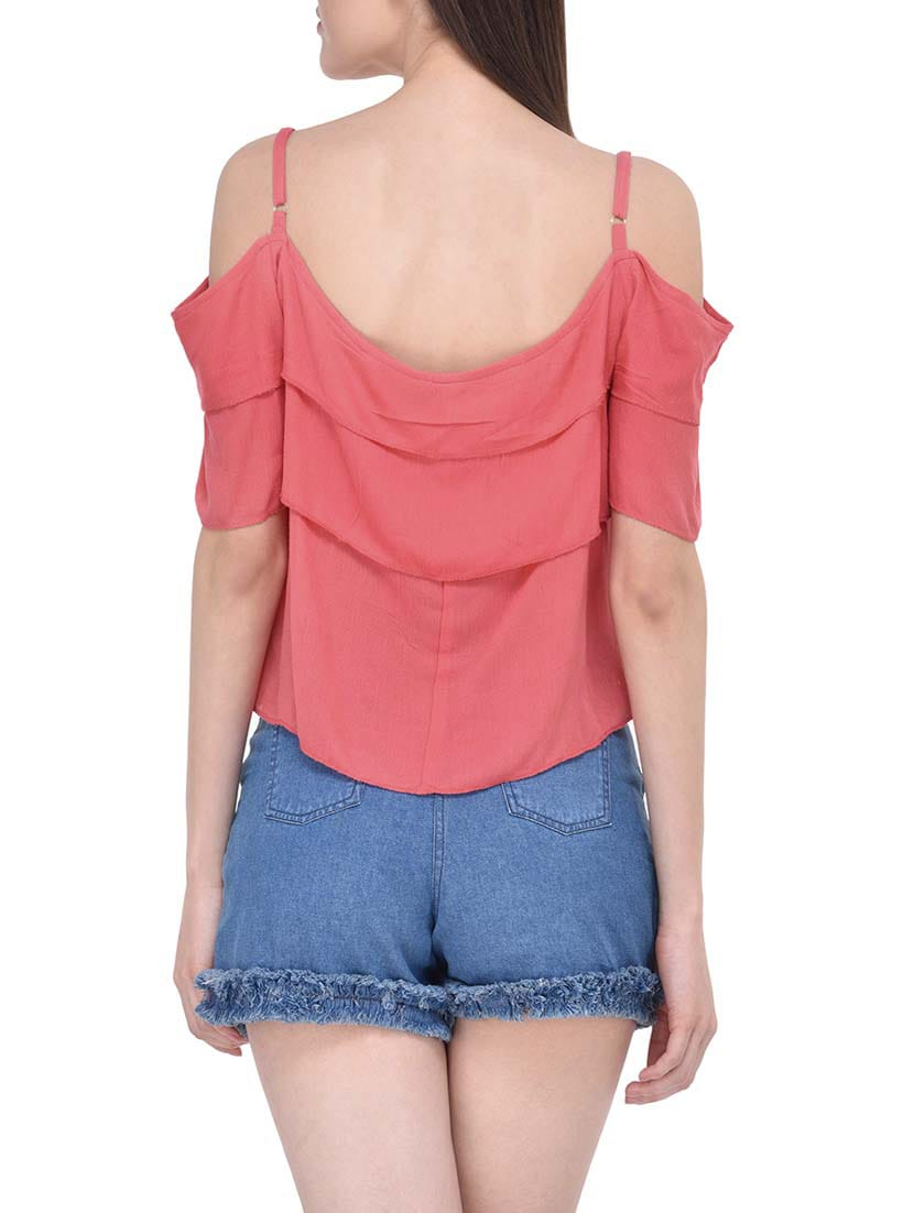 8e97bf4ccde99 Buy Pink Viscose Regular Top by Mayra - Online shopping for Tops in ...
