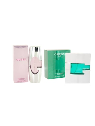 Guess Man EDT for Men and Guess (Pink) EDP for Women (Set of 2 x 75) -  online shopping for gift sets