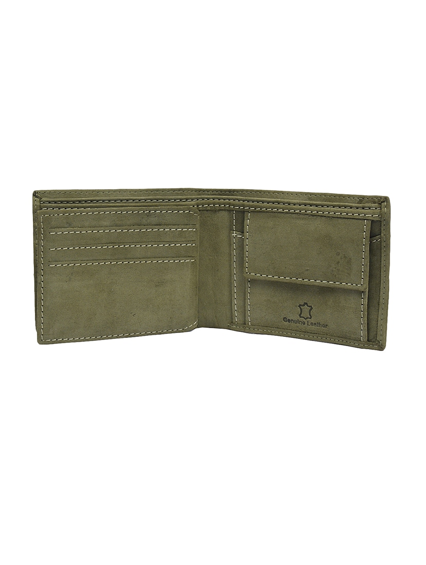 77b2ba32b999 Buy Olive Green Leather Wallet by Krosshorn - Online shopping for Wallets  in India