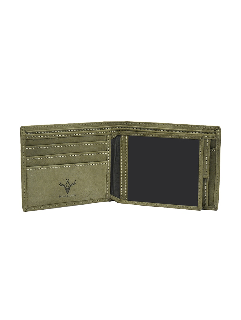 f0cee908ac08 ... olive green leather wallet - 13761550 - Zoom Image - 4