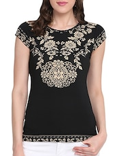 black regular top -  online shopping for Tops