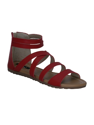 8a7c0a2eb222 red faux leather gladiators sandals - online shopping for sandals
