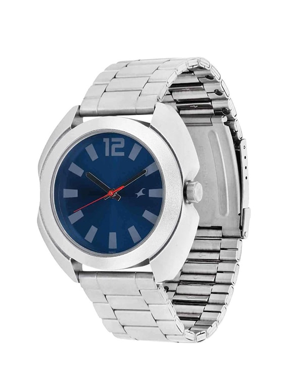 fastrack blue dial analog watch for men   3117sm02