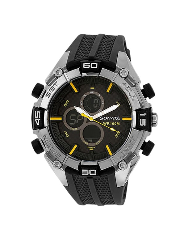 08913e78f37 Buy Sonata Black Dial Analog Watch For Men - 77028pp01 by Sonata - Online  shopping for Men Analog Watches in India
