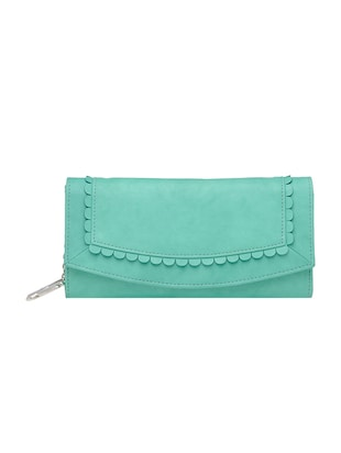 green leatherette wallet -  online shopping for wallets